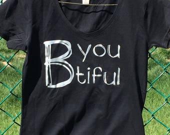 BeYOUtiful Tshirt in Black