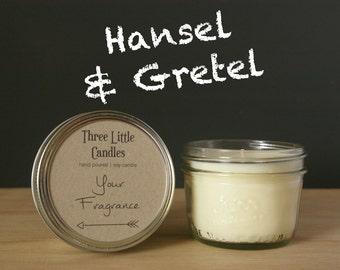 Hansel & Gretel Soy Candle Mason Jar - 170g - 30 + Hour Burn Time