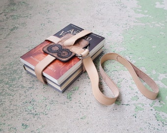 Ouroboros Book Strap - Hand Carved and Painted