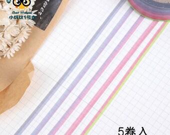 3mm Slim Purple Aubergine Ombre Washi Tape Set, Thin washi tapes, Pastel colors Masking Tape E71