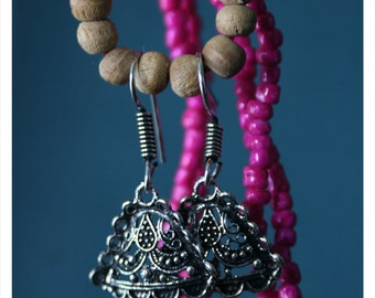 Lile, earrings made of Tibetan silver