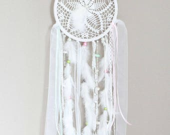 Catches dreams white handmade Crochet