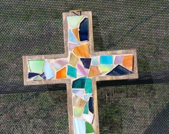 9x6 Glass mosaic cross