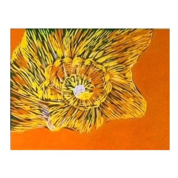 Sea Shell Print Linocut Art For Sale Nautical Prints