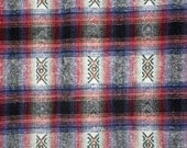 Vintage embroidered plaid...