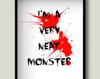 TV Show Quote, Dexter Wall Art, Dexter Morgan, Dexter Poster, Dexter Art, TV Show Art, Dark Passenger, Printable, Instant Download
