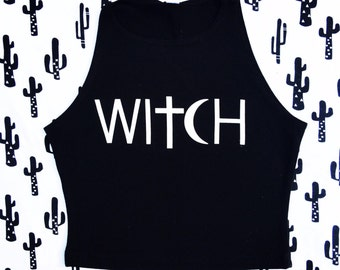 Witch Crop Top / HALF OFF /  SALE