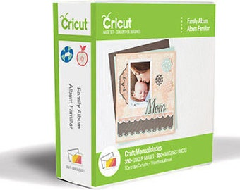 FAMILY ALBUM Cricut Cartridge ~Factory Sealed & Ready to Ship. Full Font included (Universal Overlay required-Sold Separately)