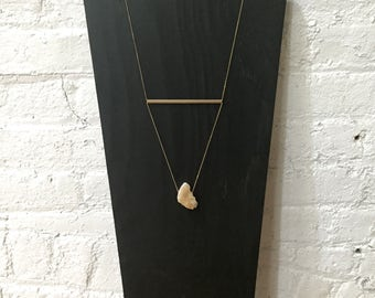 Geometric crystal necklace.