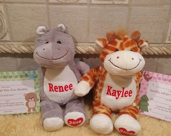 Personalized Name Plush, Personalized Stuffed Animal, Baby Shower Gift, Personalized Baby Gift, Valentine's Gift, Easter's Gift