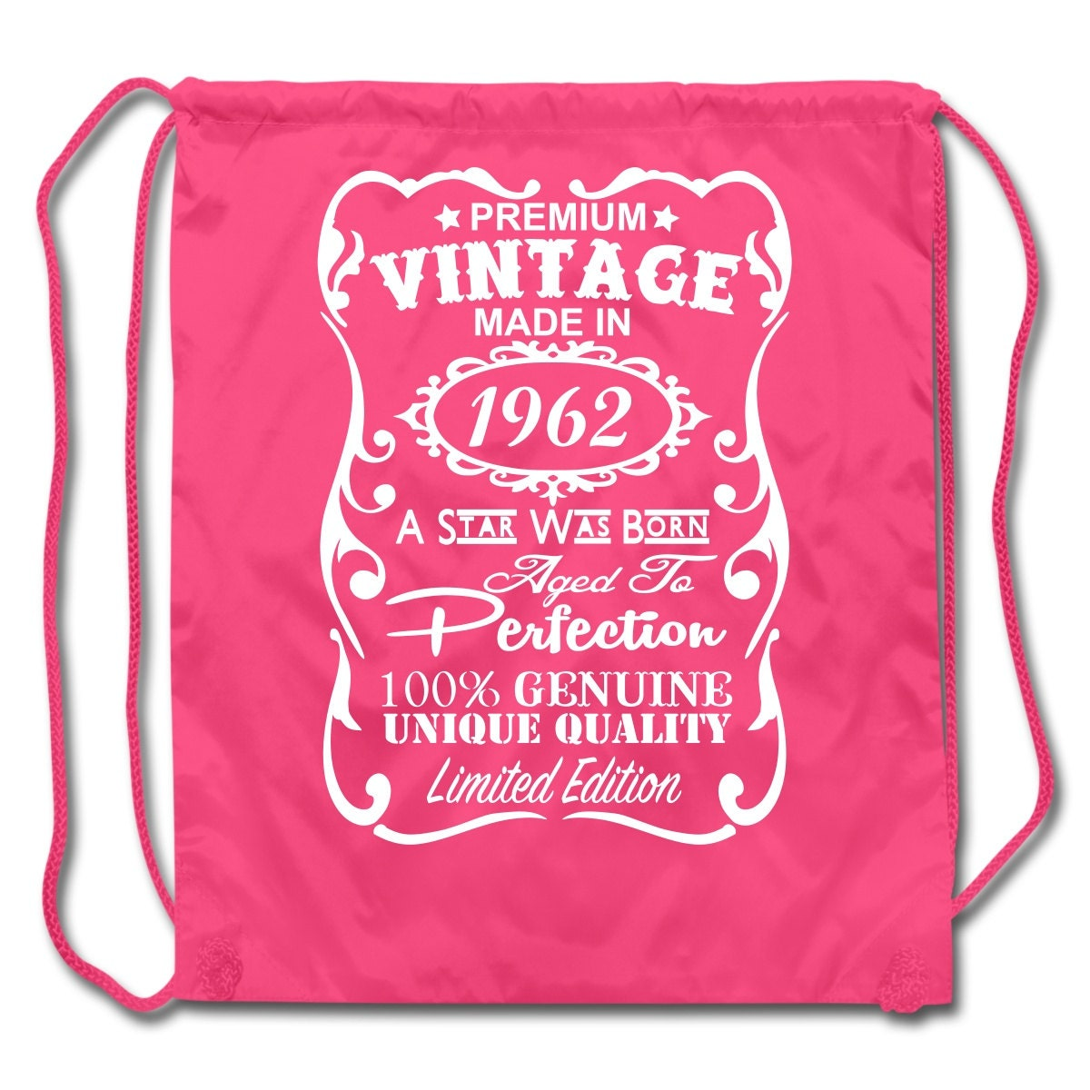 55th birthday gift ideas unique drawstring backpack made in 1962