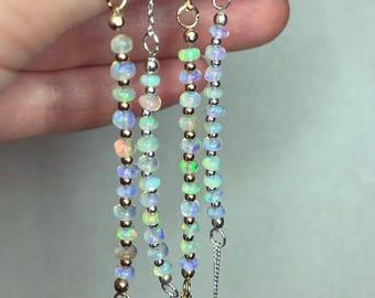 Ethiopian opal beaded bracelets
