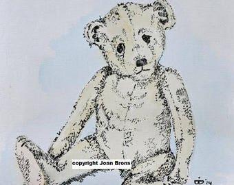 pen drawing Teddy bear