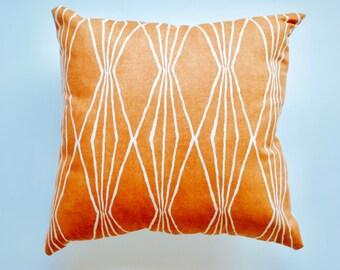 Throw Pillow | Orange Toss Pillow | Home Decor Pillow | Accent Pillow | BOHO Pillow | Bohemian Pillow | Toss Pillow | Orange Pillow | Tribal