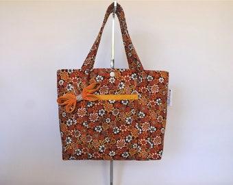 Little Girls Bag/Tote Bag/Shoulder/Bag-Orange Blossoms