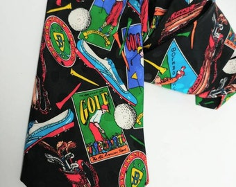 Vintage golf tie