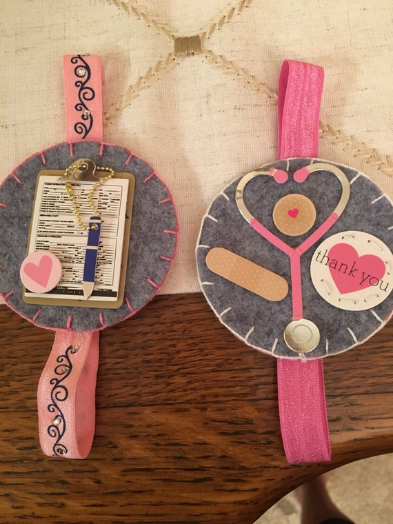 pair of nurse bookmarks, planner elastics, journal markers, gift for nurse,