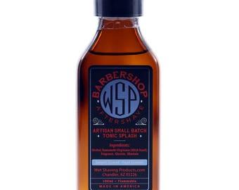 Men's Handcrafted Aftershave Splash (Barbershop) 100 ml Witch Hazel, Face Astringent, Aftershave Tonic