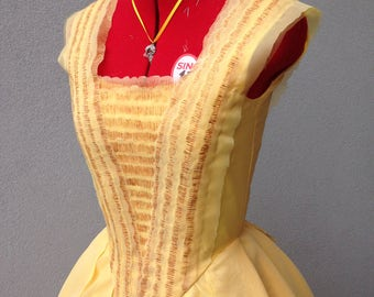 Belle Beauty and the Beast movie yellow gown costume