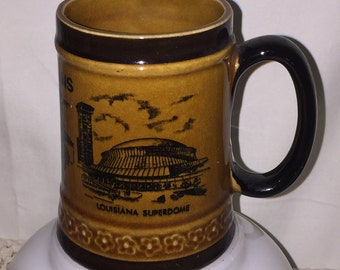 New Orleans Louisiana Coffee Mug featuring the Louisiana Superdome, Cafe Du Monde and the French Quarter