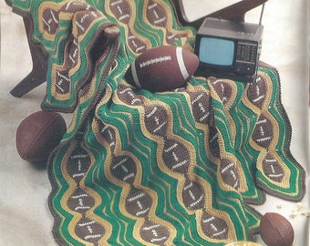 PDF Football Crochet Afghan Pattern Lap Afghan Pattern Throw