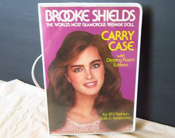 Vintage Brooke Shields doll Carrying Case trunk for accessories VHTF LJN Toys