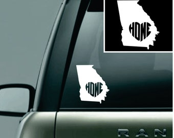 Georgia Love Your State Car Decal