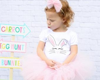 Bunny Tutu Outfit - Baby Bunny Outfit - Baby Bunny Tutu - Baby Girl Bunny Outfit - Toddler Girl Bunny Outfit