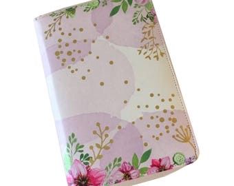 "Personal zipped planner ""dream flowers"""