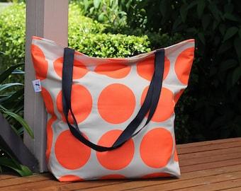 Bright orange spot Canvas Tote Bag