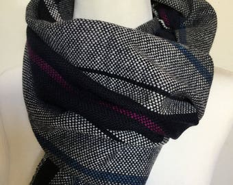 Cashmere scarf. Hand woven shawl. Handmade wrap. Gift idea. Gift for Him. Gift for Her. Hand woven scarf. Woven accessory. Luxury accessory