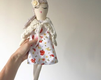 rag doll, doll, collectable, heirloom, girls doll, gift, girl, birthday gift, handmade, soft doll, cloth doll