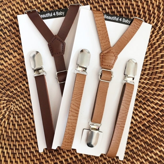 leather little boy suspenders leather toddler suspenders