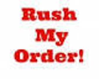 Rush order party supplies processes within 48 hours of purchase not including Sundays