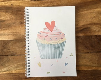 A5 Cupcake Ring Bound Notebook