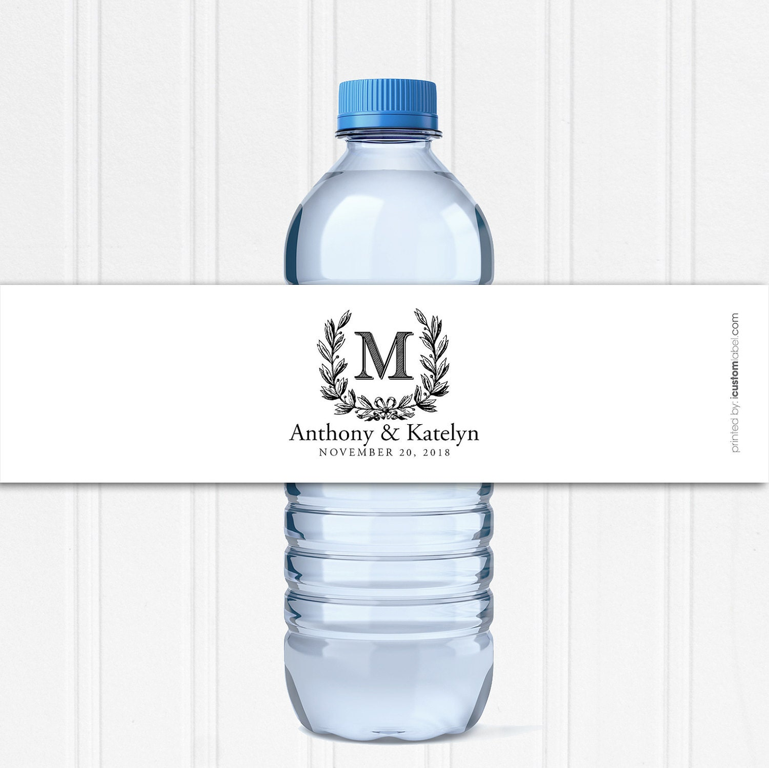 personalized business water bottle labels printing icustomlabel