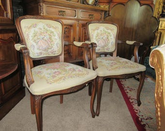 FRENCH TAPESTRY CHAIRS