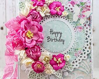 Shabby Chic Happy Birthday Card