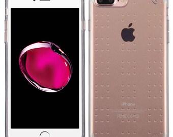 Transparent / GRAY iPhone 7 Plus / 8 Plus  TPU Gel  Case