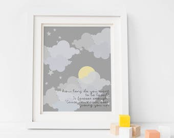 Dixie Chicks Lyrics Nursery Print / Canvas, Lullaby Gender Neutral Nursery, Baby Room Quotes - Nursery Wall Decor, Lullaby Lyrics Wall Art