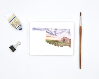 Oklahoma Notecards - Oklahoma State Art - Watercolor Notecards - Blank Notecards - Oklahoma Gift - Oklahoma Wedding - Stocking Stuffer