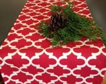 Christmas table runner, Red fynn