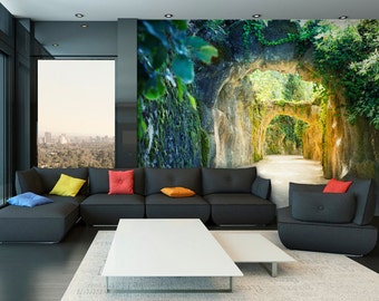 Photo Wallpaper Wall Murals Non Woven Modern Art Walk Way Trees Cave Nature Wall  Decals Bedroom Part 95