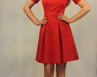 Skater Dress-red