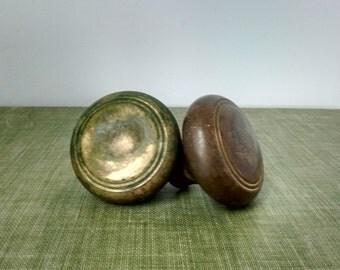 Vintage door knobs, set of vintage knobs