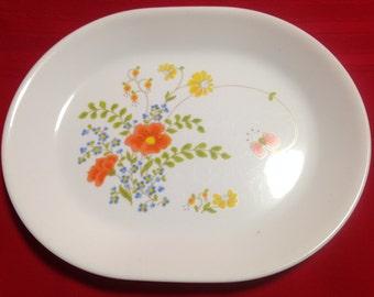 Corelle Corning Large Oval Serving Platter, Wildflower Pattern
