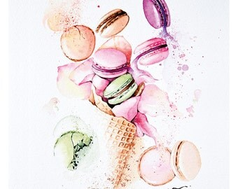 Flying macarons – Limited edition fine art prints
