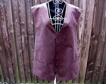 Mens Waistcoat, Lloyd Attree & Smith, Vintage Waistcoat, Brown Waistcoat, Mens Formal Wear, Tuxedo Wear, Prom, Mens Vest, XXL Menswear
