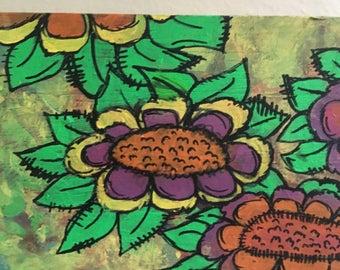 Green Flowers Mushroom Reversible