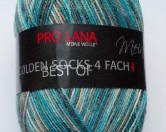 sock yarn 100g (6,-Euro/100g), turquoise grey, 4ply (934)